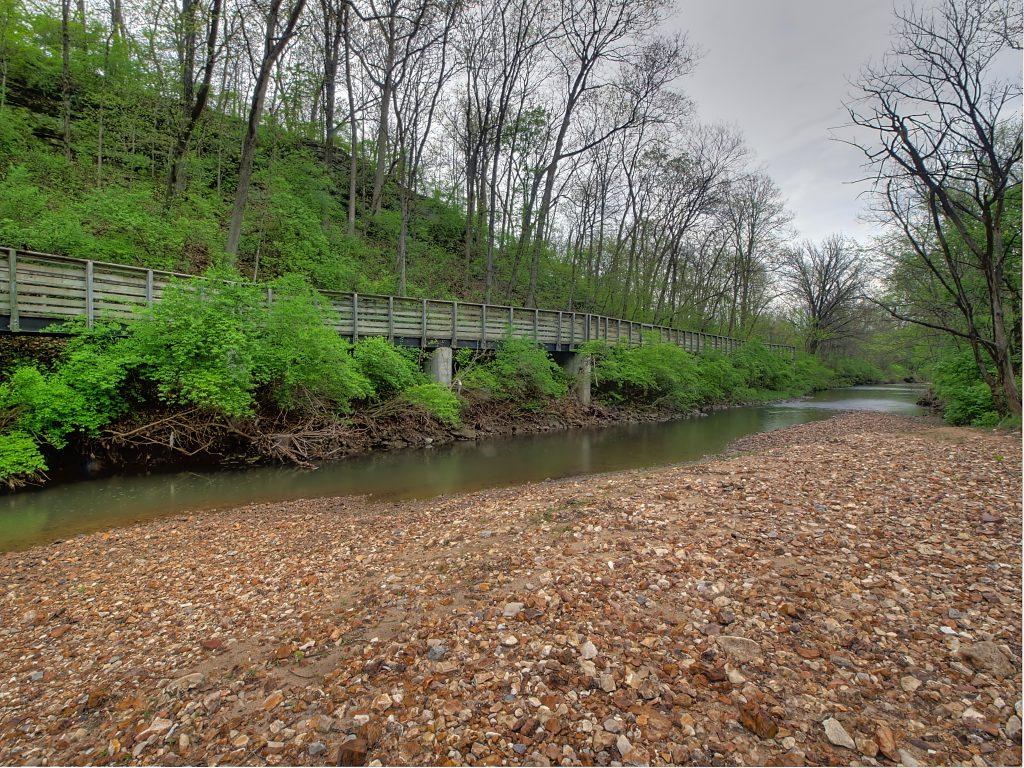 boardwalk trail along a rocky creek