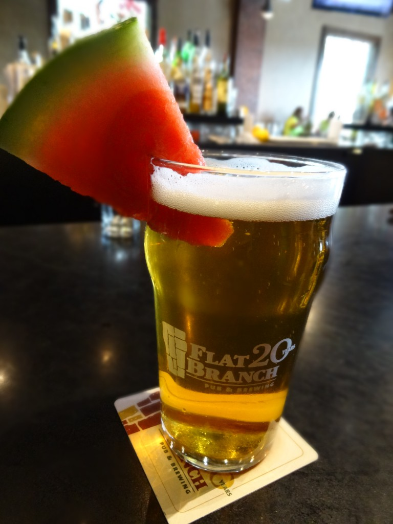 Flat Branch Pub watermelon ale