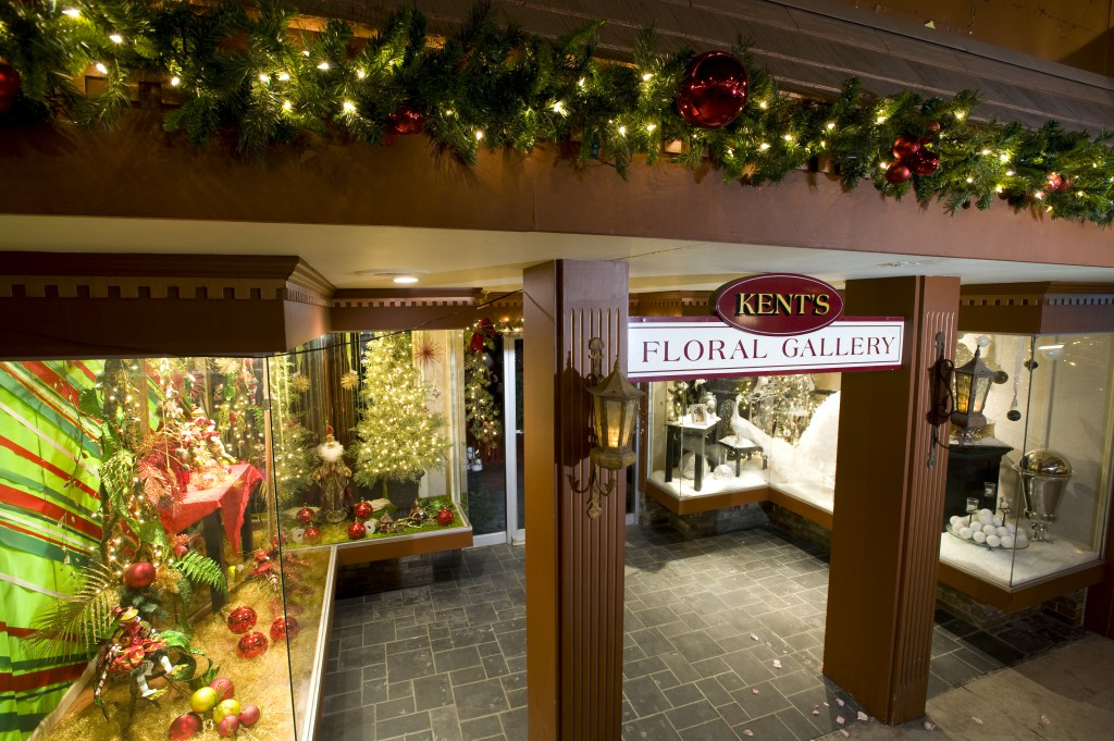 Kent's floral gallery decorated for the holidays