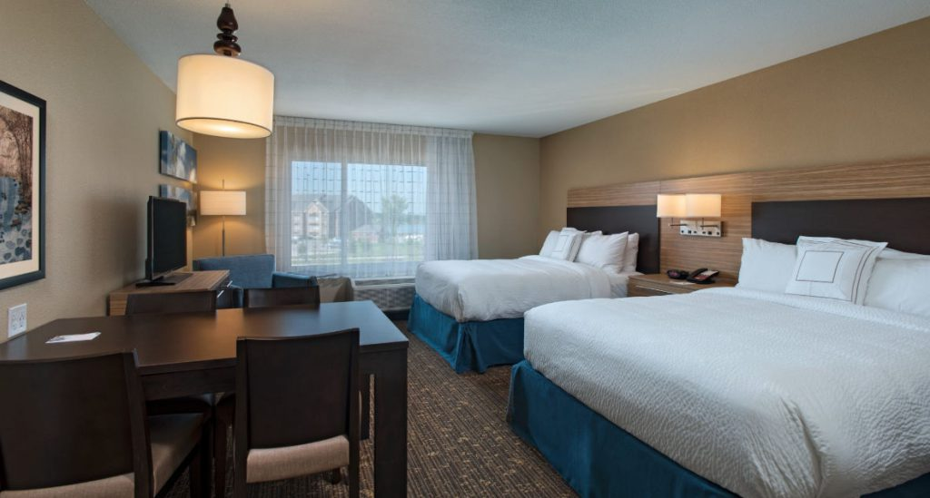 towneplace suites hotel double bedroom