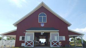 Red livestock barn