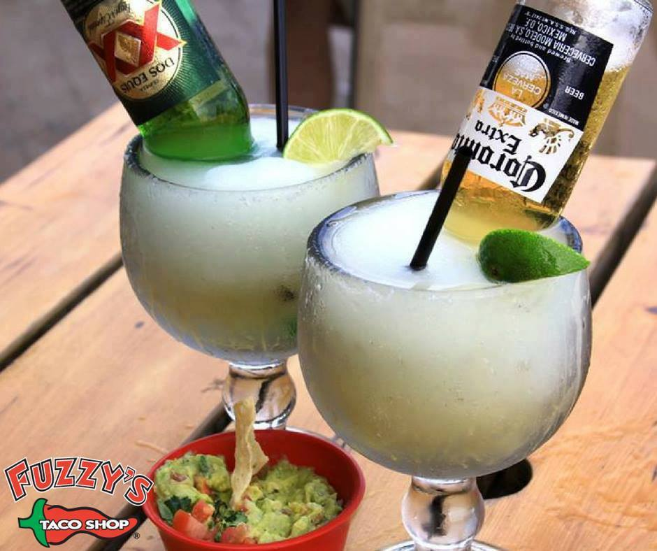 margaritas with beer bottles