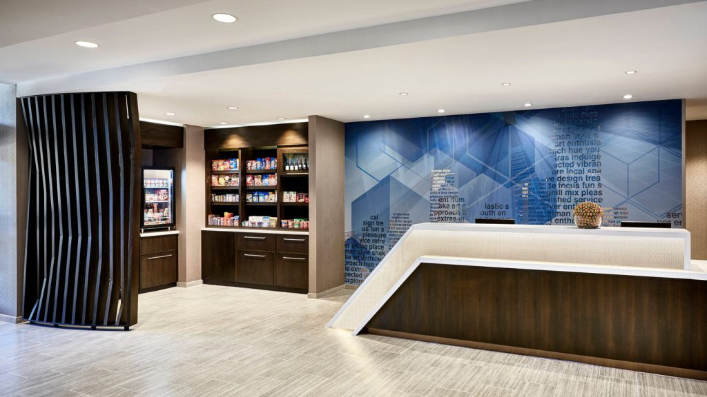springhill suites front desk area
