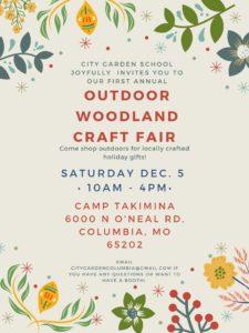Outdoor woodlands craft fair brochure